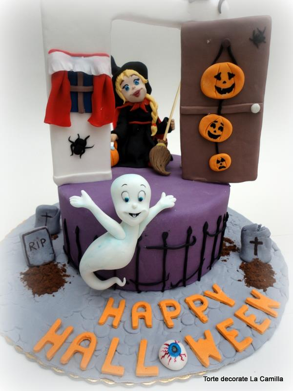 Tutorial: come fare Casper in fantasma per una torta Halloween Spettacolare