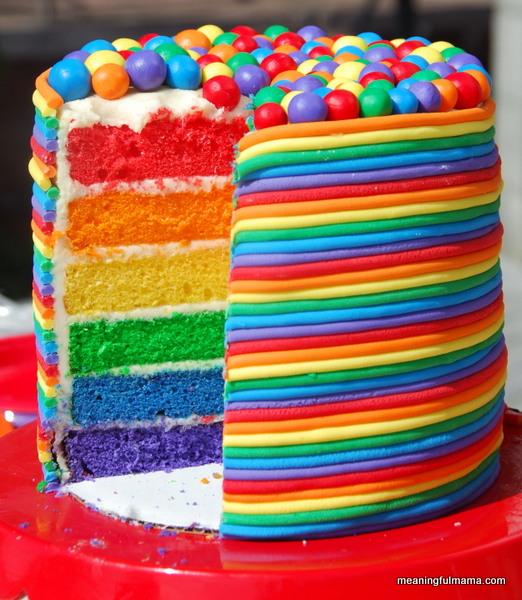 Rainbow Birthday Cake – Torta Arcobaleno –