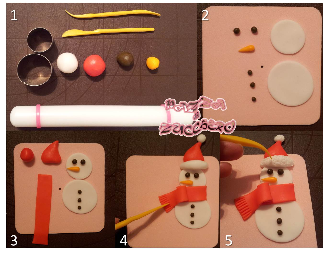 Tutorial: come fare un pupazzo di neve in pasta di zucchero