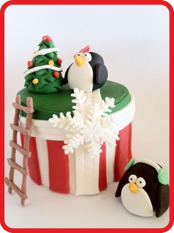 Tutorial: torta di Natale con i pinguini