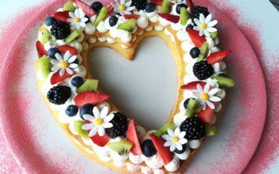 Torta Cream Tart a forma di cuore